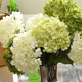 preiswerte Kunstblume-Künstliche Blumen 1 Ast Europäischer Stil Hortensie Tisch-Blumen