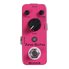 cheap Instrument Accessories-Mooer Ana Echo Analog Delay Guitar Effect Pedal Full Analog Circuit and Warm Clear Smooth Analog Delay Sound Full Metal Shell True Bypass