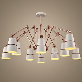 cheap Lantern Design-Ecolight™ 10-Light 182 cm Chandelier Metal Painted Finishes Vintage 220-240V
