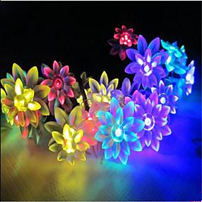 Недорогие Светодиодные ленты-10 м Гирлянды 100 светодиоды ДИП светодиоды Тёплый белый RGB Белый Водонепроницаемый 220 V
