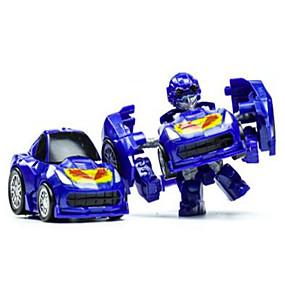 preiswerte Roboter-Roboter Spielzeug-Autos Ausstellungsfiguren Bausteine 3D - Puzzle Bildungsspielsachen 1 pcs Auto Maschine Roboter Transformierbar Unisex Jungen Spielzeuge Geschenk