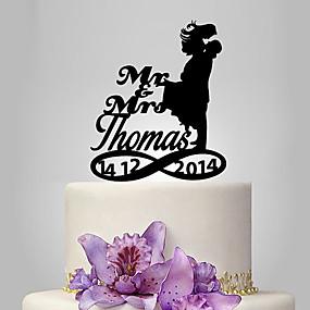 povoljno Darovi i pokloni za zabave-Figure za torte Personalized Par Classic Akril Vjenčanje Godišnjica Bridal Shower Vrt Tema Klasični Tema OPP