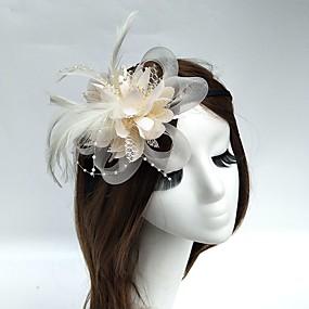 povoljno Melbourne Cup Carnival Hats-Til / Perje / Net Trake za kosu / Fascinators / kape s 1 Vjenčanje / Special Occasion / Čajanka Glava