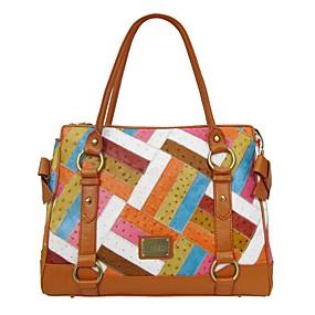 preiswerte Bolsas de Palha-Damen Taschen Leder Umhängetasche für Formal / Büro & Karriere Orange