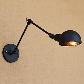 preiswerte Befestigungen für Beleuchtung-Landhaus Stil / Retro Schwingen Arm Lichter Metall Wandleuchte 110-120V / 220-240V 4W