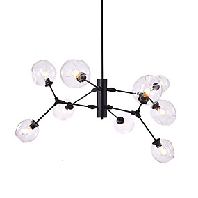 cheap Chandeliers-9-Light 130 cm Mini Style / Designers Chandelier Metal Glass Painted Finishes Modern Contemporary / Traditional / Classic 110-120V / 220-240V