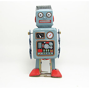 cheap Robots, Monsters & Space Toys-Robot Wind-up Toy Machine Robot Metalic Iron Anime 1 pcs Kid's Boys' Girls' Toy Gift
