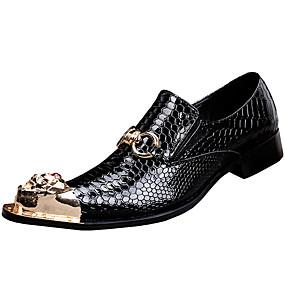 levne Větší obuv-Pánské Společenské boty Nappa Leather Jaro / Podzim Oxfordské Černá / Party / Party / Venkovní