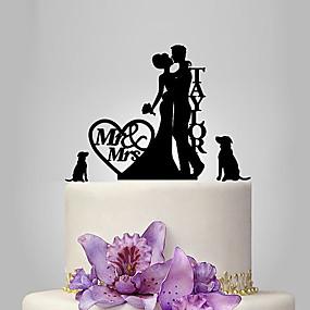 povoljno Darovi i pokloni za zabave-Figure za torte Vrt Tema / Klasični Tema / rustikalni Tema Par Classic Opeka Vjenčanje / godišnjica / Djevojačka večer s OPP