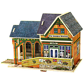 preiswerte Modelle & Modell Kits-3D - Puzzle Modellbausätze Holzmodelle Haus Spaß Holz 1 pcs Klassisch Kinder Spielzeuge Geschenk