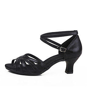 cheap Dance Shoes Classic Collection-Women's Dance Shoes Latin Shoes Heel Customized Heel Customizable Black / Gold / Silver / Indoor / Leather