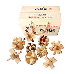 preiswerte Rätselspiele-Holzpuzzle Knobelspiele Kong Ming Geduldspiel Intelligenztest Hölzern Unisex Jungen Mädchen Spielzeuge Geschenk