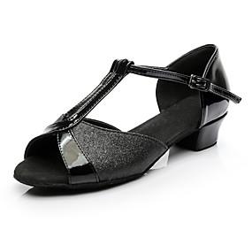 preiswerte Tanzschuhe Klassische Kollektion-Damen Tanzschuhe Paillette Schuhe für den lateinamerikanischen Tanz Sneaker Blockabsatz Maßfertigung Schwarz / Innen
