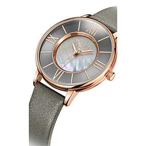 preiswerte Top Jewelry & Watch-Damen Uhr Modeuhr Quartz Leder Schwarz / Blau / Braun 30 m Wasserdicht Analog Freizeit Cool Grau Braun Blau