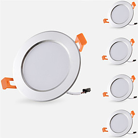 cheap LED Recessed Lights-5pcs 5 W 500 lm 10 LED Beads Easy Install Recessed LED Recessed Lights LED Downlights Warm White Cold White 85-265 V Cabinet Ceiling Home / Office / 5 pcs / RoHS / CE Certified