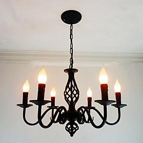 povoljno Stropna svjetla i ventilatori-6-Light Svijeća stilu Lusteri Ambient Light Others Metal svijeća Style 110-120V / 220-240V Bulb not included