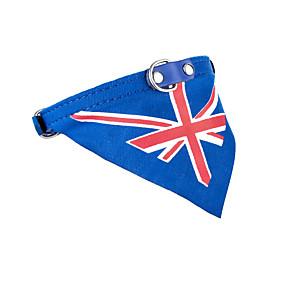 preiswerte Gifts for Soccer Fans-Katze Hund Bandanas & Mützen Krawatte / Fliege Hundekleidung Blau Kostüm PU-Leder Stoff Fahne Cowboy Lässig / Alltäglich Sport XS S M L
