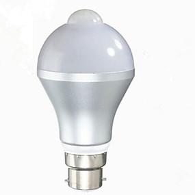 preiswerte 20% Rabatt-1pc 5 W Smart LED Glühlampen 480 lm B22 E26 / E27 A60(A19) 10 LED-Perlen SMD 5730 Infrarot-Sensor Lichtsteuerung Warmes Weiß Kühles Weiß 85-265 V / 1 Stück / RoHs