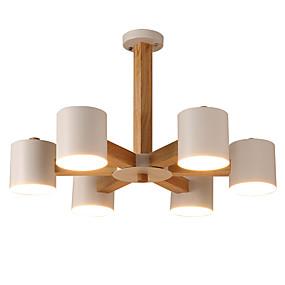 povoljno Stropna svjetla i ventilatori-LightMyself™ 6-Light Svijeća stilu Lusteri Downlight Drvo Wood / Bamboo LED 220-240V / 100-120V Bulb not included / E26 / E27