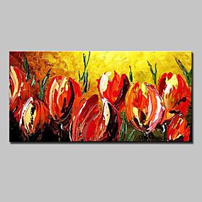 povoljno Slike za cvjetnim/biljnim motivima-Hang oslikana uljanim bojama Ručno oslikana - Cvjetni / Botanički Moderna Europska Style Uključi Unutarnji okvir