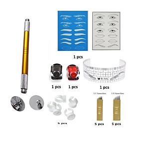 preiswerte Permanent Make-up Sets-Schminkkasten Augenbrauen Lippen Eyeliner/Lidstrich Korpus Tattoo-Maschinen 18 Round Shader 14 Flach