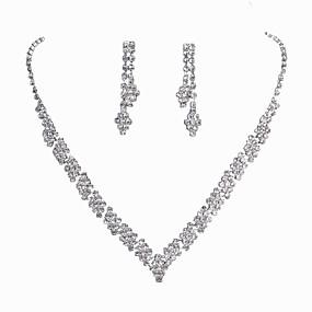 povoljno Nakit za vjenčanje i izlaske-Žene Svadbeni nakit Setovi Klasik Moda Naušnice Jewelry Pink Za Vjenčanje Party Special Occasion Angažman
