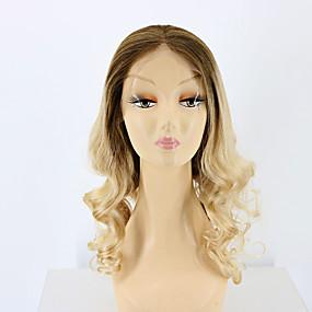 ราคาถูก Ombre Lace Wigs-ผม Remy เต็มไปด้วยลูกไม้ วิก สไตล์ ผมบราซิล ลอนใหญ่ Ombre วิก 130% Hair Density ผมเด็ก ผม Ombre เส้นผมธรรมชาติ วิกผมแอฟริกันอเมริกัน 100% มือผูก สำหรับผู้หญิง Short ขนาดกลาง ยาว วิกผมแท้ Luckysnow