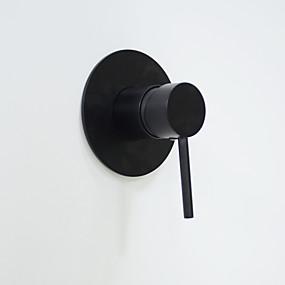 preiswerte Renovierung-Duscharmaturen Öl-riebe Bronze Wandmontage Keramisches Ventil Bath Shower Mixer Taps / Messing