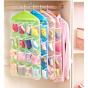 preiswerte Bolsas & Chapéus-Kunststoff Multifunktion Zuhause Organisation, 1set Aufbewahrungs Körbe Kleiderbügel Aufbewahrungsbeutel