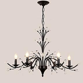 preiswerte Befestigungen für Beleuchtung-lightmyself ™ 6-Licht-Kerzenleuchter Uplight lackiert Metallkristall, LED 110-120 V / 220-240 V Birne nicht im Lieferumfang enthalten / e12 / e14