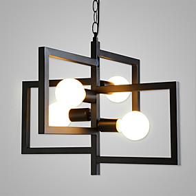 povoljno Viseća rasvjeta-4-Light Geometrijski Privjesak Svjetla Ambient Light Slikano završi Metal Mat, Rasvjeta, Posebni dizajn 110-120V / 220-240V / E26 / E27