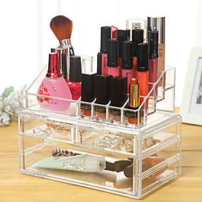 preiswerte Kosmetik-Boxen, Taschen & Töpfe-Make-up Utensilien Kosmetikaufbewahrung Bilden Quadratisch Klassisch Alltag Alltag Make-up Kosmetikum Pflegezubehör
