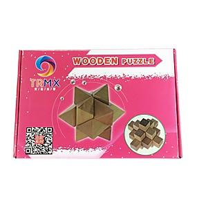 preiswerte Rätselspiele-Holzpuzzle Knobelspiele Kong Ming Geduldspiel Intelligenztest Naturholz Chinesischer Stil Unisex Spielzeuge Geschenk