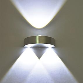 voordelige Binnenverlichting-moderne 3w led wandkandelaar indoor hal naar beneden ter plaatse licht aluminium decoratieve verlichting