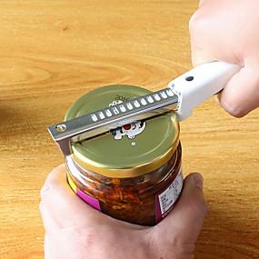 cheap Openers-Adjustable Stainless Steel Jar Lid Opener Anti-slip Can Lid Screw Bottle Opener