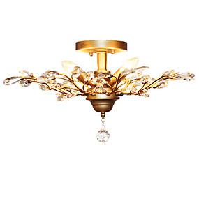 povoljno Lámpatestek-LightMyself™ 4-Light Flush Mount Ambient Light Antique Brass Metal Crystal, Mini Style, LED 110-120V / 220-240V Bulb not included / E12 / E14