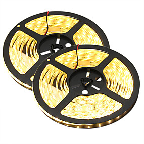 cheap Light Strips & Strings-HKV® 10M LED Light Strips Flexible Tiktok Lights 5630 SMD 300 LED 80W Warm White Cool White Flexible LED Light Bar Strip Waterproof indoor Home DC 12V
