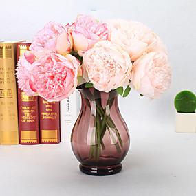 preiswerte Kunstblume-Künstliche Blumen 5 Ast Europäisch Pfingstrosen Tisch-Blumen