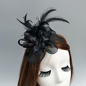povoljno Melbourne Cup Carnival Hats-Elegantna i Luksuzan Mrežica Fascinators / kape / Šeširi s Cvjetni print 1pc Vjenčanje / Special Occasion / Čajanka Glava