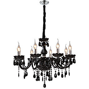 """cheap Ceiling Lights & Fans-1-Light LWD 70(28"""") Crystal Chandelier Glass Candle-style Electroplated Modern Contemporary 110-120V / 220-240V"""