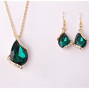 povoljno Nakit za vjenčanje i izlaske-Žene Komplet nakita Privjesci Ispustiti Naušnice Jewelry Obala / Zelen / Plava Za Vjenčanje Party Special Occasion godišnjica Rođendan