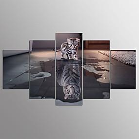 preiswerte Aufgespannte Leinwandrucke-Druck Aufgespannte Leinwandrucke Abstrakt Fünf Panele Kunstdrucke