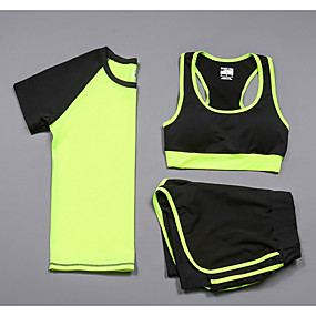 cheap Women's Activewear-Women's 2-Piece Spandex Workout Set Activewear Set Yoga Suit 2pcs Yoga Running Pilates Multifunctional Cycling Camping & Hiking Sportswear Compression Clothing Activewear Stretchy