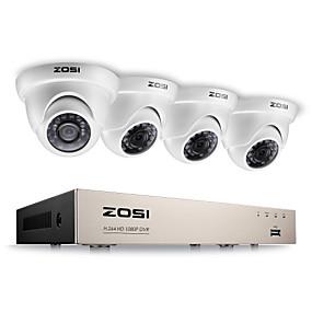 cheap DVR Kits-ZOSI® 2.0MP 1080P HD 4 CH DVR TVI Surveillance Kit 4PCS 2000TVL Outdoor IR Night Vision Camera CCTV System