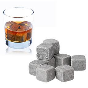 preiswerte Haus & Garten Ausverkauf-9pcs Set Whisky Steine Eiswürfel Wein Champagner Rock Kühler Bar