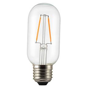 preiswerte 5% Rabatt-1pc 2 W LED Glühlampen 180 lm E26 / E27 T45 2 LED-Perlen COB Dekorativ Warmes Weiß 220-240 V / 1 Stück / RoHs