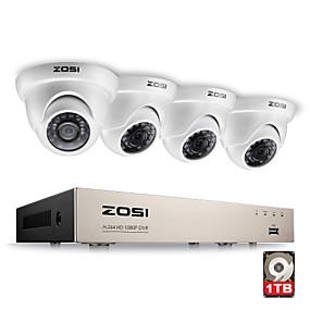 preiswerte DVR Set-zosi® 4ch 1080p Full HD-Video-Sicherheitssystem mit 4x 2.0mp 1080p wetterfesten Dome-Kameras 1 TB-Festplatte