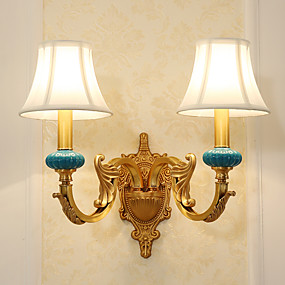 billige Forbedringer til hjemmet-Tiffany / Enkel / Land Vegglamper Metall Vegglampe 110-120V / 220-240V 5W