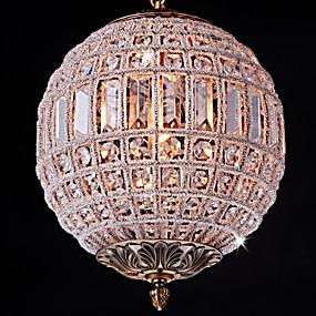 povoljno Lámpatestek-Flush Mount Ambient Light Starinski Bakar Metal Crystal, Mini Style, dizajneri 110-120V / 220-240V Bulb not included / E26 / E27