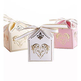 povoljno Darovi i pokloni za zabave-Kubni Kartica papira Naklonost Holder s Uzde Milost Kutije / Poklon kutije